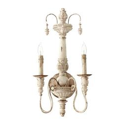 Quorum Salento 2 Light Wall Light in Persian White