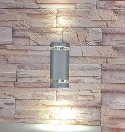 LUMINTURS 8W Semi-Cylinder LED Bulb Wall Sconce Up/Down Exte