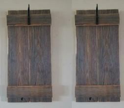 """Set of Two 23"""" Rustic Wall Mounted Lantern Sconces with 3"""" B"""