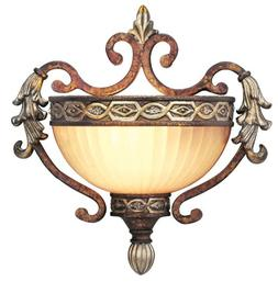 Livex Seville 8540-64 Wall Sconce - 10.75H in. Palacial Bron