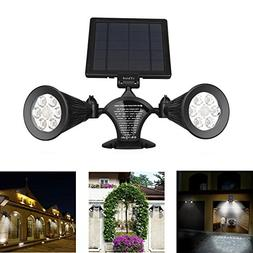 Solar Motion Sensor Light Outdoor, iThird 12 LED 600LM Solar