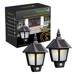 Solar Wall Sconce Lights Outdoor Security with Motion Sensor