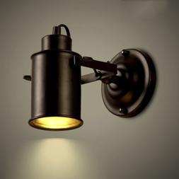 Spotlight Metal Cylinder Shade Wall Sconce Light Lamp Adjust