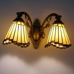Stained Glass Tiffany Wall Light Sconce Lamp Shade Bathroom