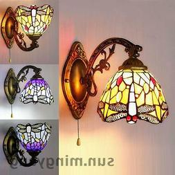 Stained Glass Wall Sconce Single Lamp Tiffany Indoors Wall L
