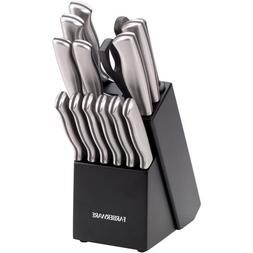 Farberware Stamped Stainless Steel 15-Piece Cutlery Set