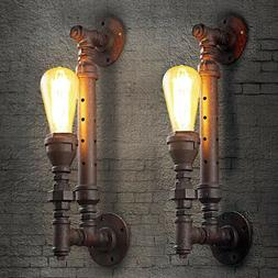 Steampunk Pipe Sconce Antique Wallmount Warehouse Aged Light
