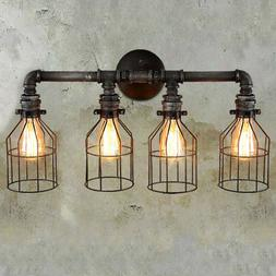 Steampunk Wall Mount Light Pipe Sconce Industrial Valve Wall
