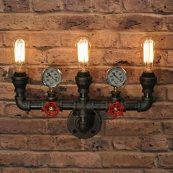 Steampunk Wallmount Light Pipe Sconce Industrial Valve Wall