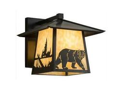 Stillwater Lone Bear Straight Arm Wall Sconce