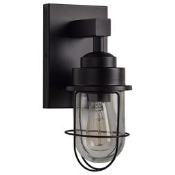 """Stone & Beam Jordan Industrial Wall Sconce With Bulb, 11""""H,"""