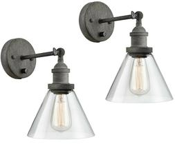 Swing Arm Wall Sconce Rustic Hardwired & Plug-in Wall Light
