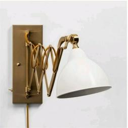 Threshold Accordion Metal Wall Lamp Gold/White
