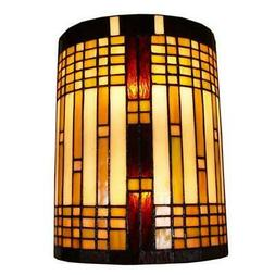 Amora Lighting Tiffany Style 2-light Geometric Wall Sconce