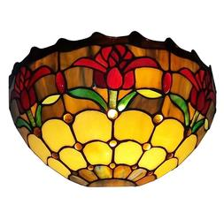 Amora Lighting Tiffany Style AM1056WL12 Tulips Wall Sconce L