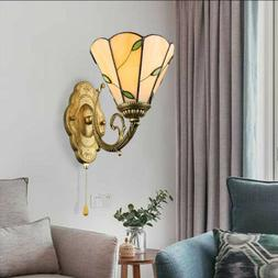 Tiffany Countryside Wall Light Leaf Stained Glass Lampshade