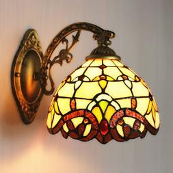 Tiffany Stained Glass Wall Sconce Antique Bowl Shade Wall La