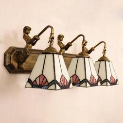 Tiffany Style Stained Glass Mermaid Wall Sconce Bathroom Van