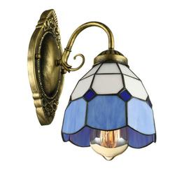 Tiffany Style Wall Sconce Bathroom Stained Glass Single Ligh