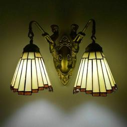 Tiffany Wall Lamp Mermaid Stained Glass Wall Sconce Modern M