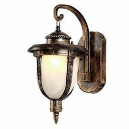 Traditional Antique Brass White Glass Shade Single Light Out