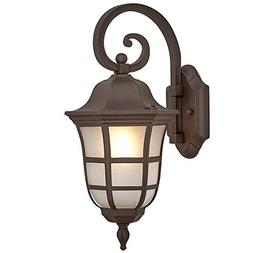 Traditional Gooseneck Downward Outdoor Wall Sconce Light | C