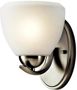 Kichler Transitional Wall Sconce 1 Light Fixture Brushed Nic