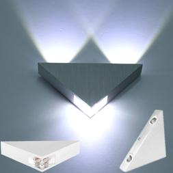 Triangle 3W LED Wall Sconce Light Fixture Bedroom Spot Light