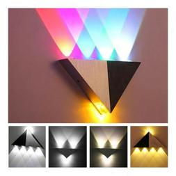 Triangle Indoor 5W Led Wall Up Down Lamp Spot Light Pathway