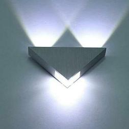 Triangle LED Wall Light Modern Sconce Home Theater Movie Roo