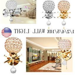 US Modern Wall Lamp Crystal Pendant Wall Lamp Sconce Fixture