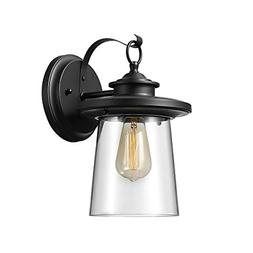 """Valmont 13"""" 1-Light Outdoor Wall Sconce with Black Finish &"""