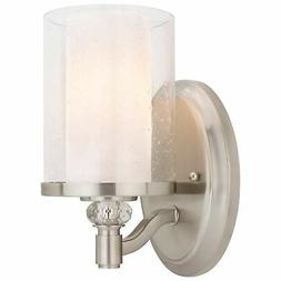 "Kira Home Victoria 10"" Transitional Wall Sconce, Frosted Gla"
