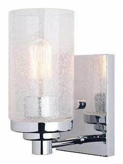 "Kira Home Vienna 9"" Transitional Wall Sconce with Seeded Gla"