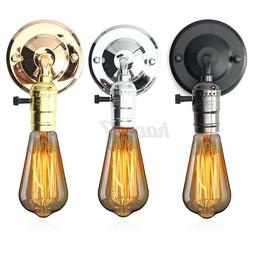 Vintage E27 Industrial Wall Lights Sconce Lamp Holder Switch