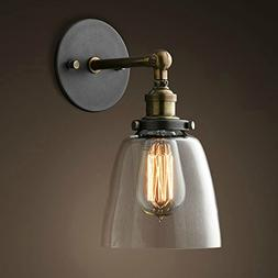 Lixada Vintage Glass Wall Sconces Adjustable Industrial Edis