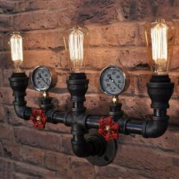 Vintage Industrial Iron Water Pipe Wall Sconce Light Retro L