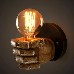Vintage Industrial Resin Fist Wall Light Sconce Steampunk Ed