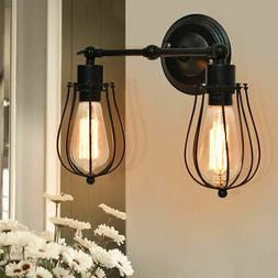 Vintage Industrial Retro Edison Wall Sconce Light Lamp Wire