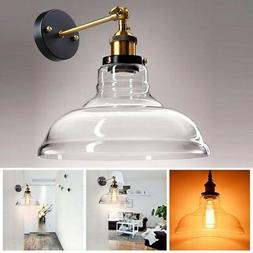 Vintage Industrial Wall-mounted Glass Light Wall Sconce Edis