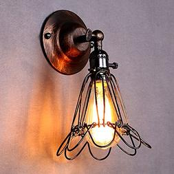 LEMONBEST Vintage Retro Edison Birdcage Style E27 Wall Light