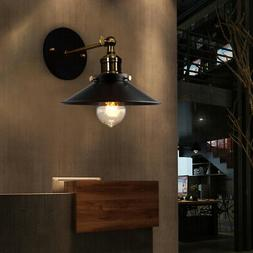"""Vintage Retro Industrial 9"""" Wide Metal Sconce Wall Light Lam"""