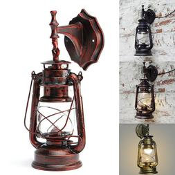 Antique Vintage Rustic Glass Wall Sconce Light Lamp Fixture