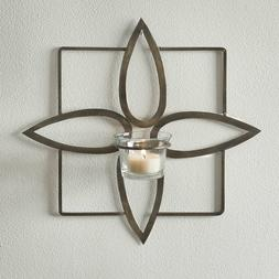 OLIVIA Tealight metal Wall Sconce/antiqued brass finish