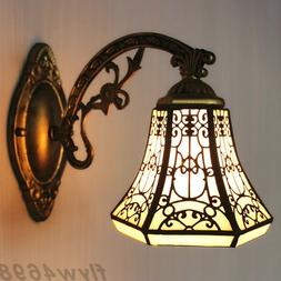 Vintage Tiffany Stained Glass Wall Light Shade Wall Sconce M