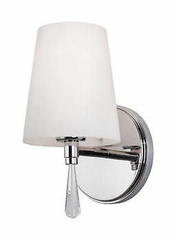 Feiss VS53001-CH Monica 1 Light Chrome Bath Wall Sconce With