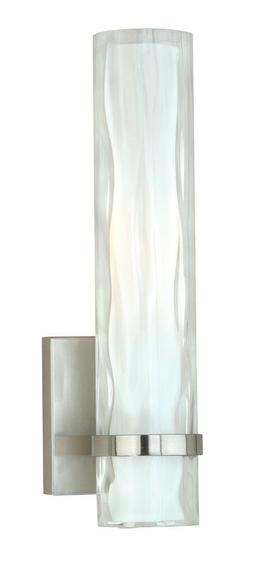 Vaxcel Lighting W0049 Vilo 1 Light Wall Sconce, Satin Nickel