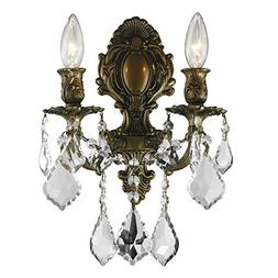 Worldwide Lighting W23313B12 Versailles 2 Light Candle Wall