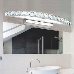 Wall Lamp Crystal Mirror LED Sconces Warm Cool Long Ceiling