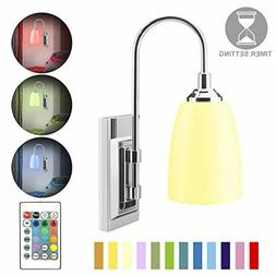 Wall Lamp Operated LED Wall Sconces Indoor Wireless Multi Co
